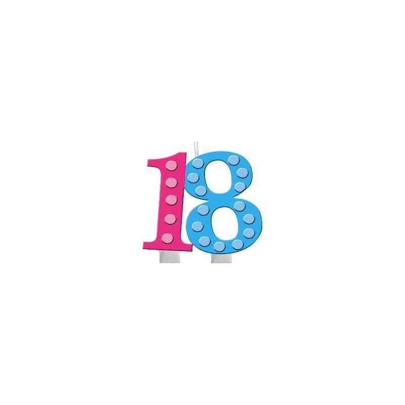 CANDELINA 18 ANNI COMPLEANNO ADULTI 105412