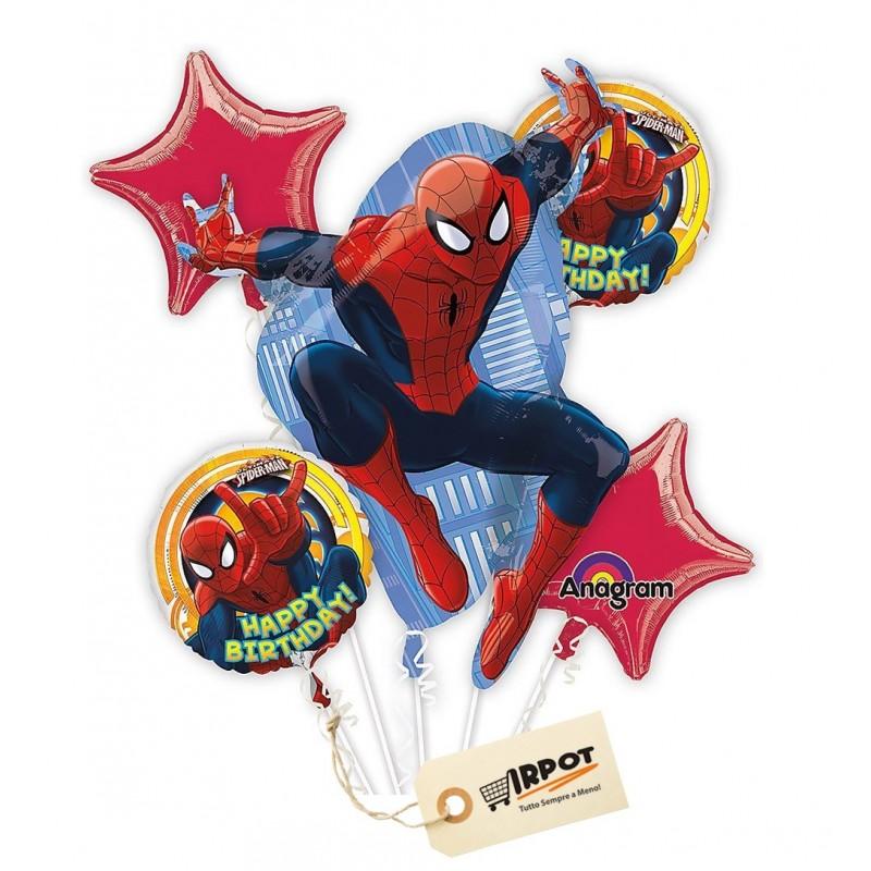 Bouquet di palloncini Spiderman