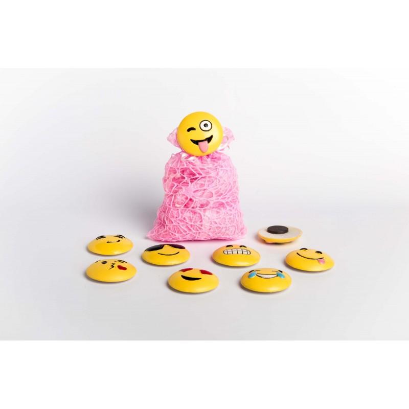 sacchetti rete rosa magneti smile faccine