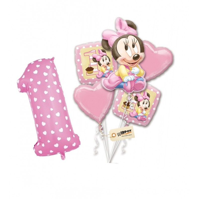 Palloncini Minnie Baby 1° compleanno