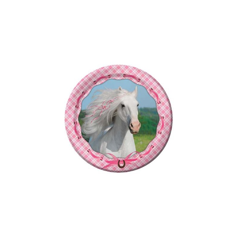 PIATTINI DESSERT CAVALLI ROSA HEART MY HORSE 40 PZ