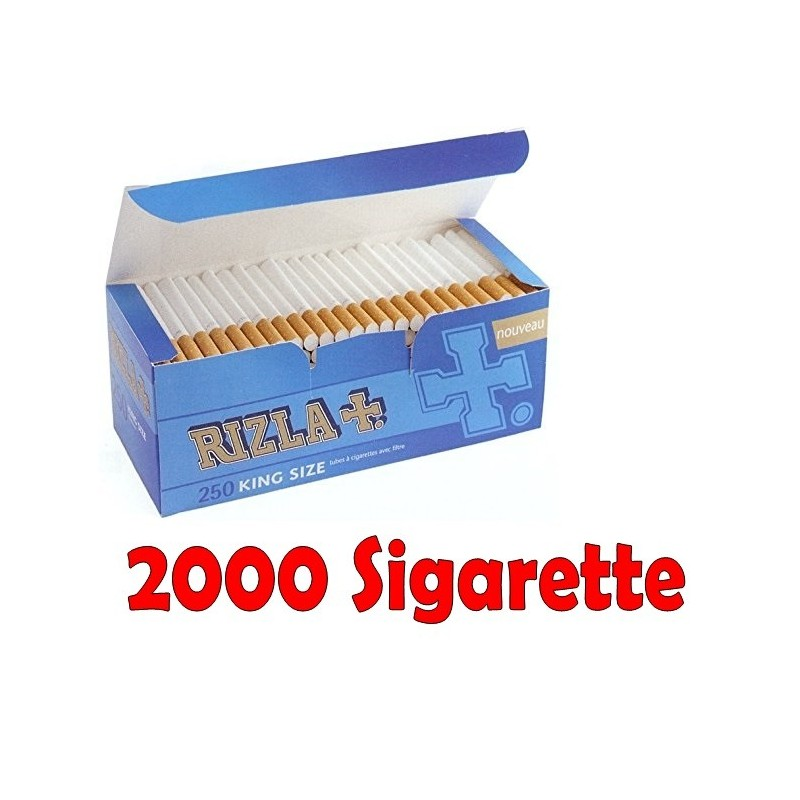 1000 SIGARETTE VUOTE GIZEH SILVER TIP EXTRA KING SIZE