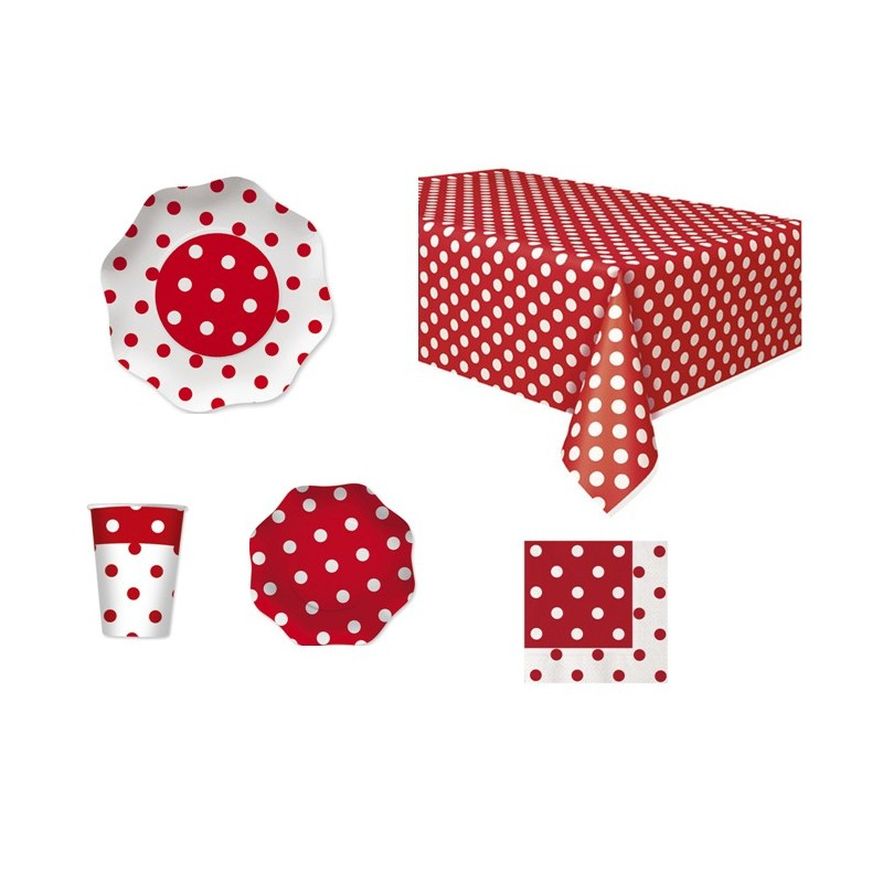 POIS ROSSO COORDINATO KIT N 42