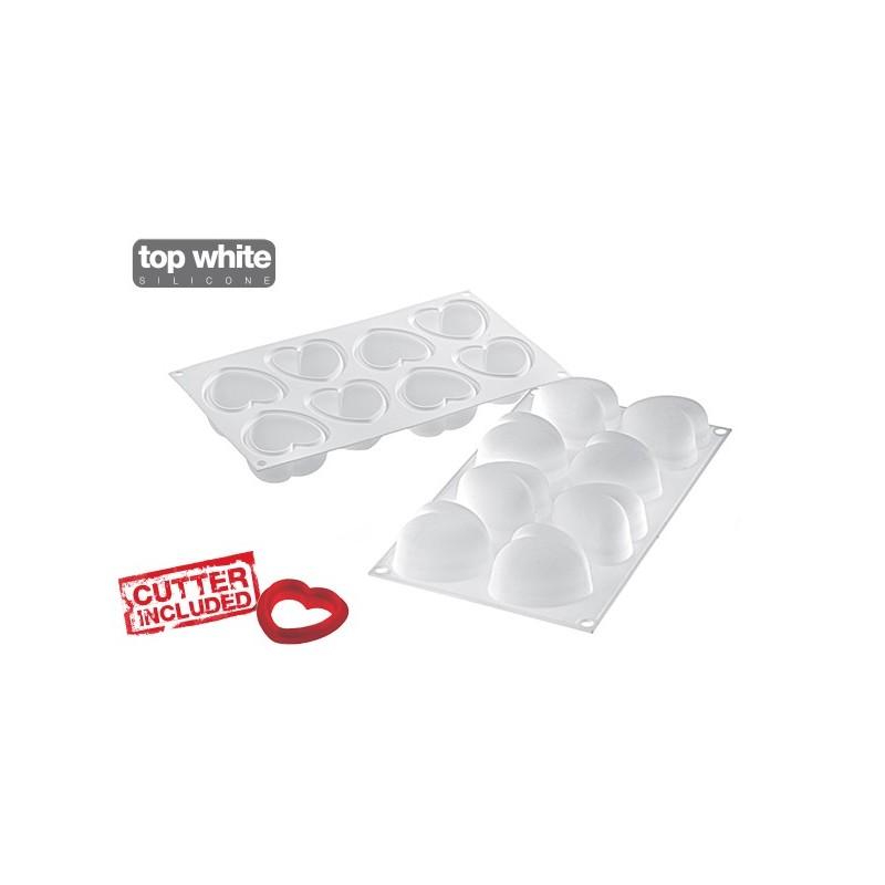 stampo silicone cuori amorini 100