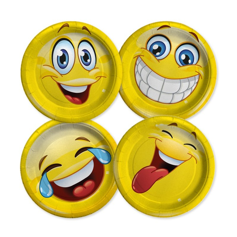 PIATTI EMOTICONS SMILE 8 PZ