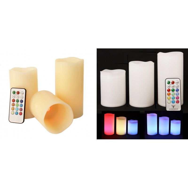 candela led timer cambio colore