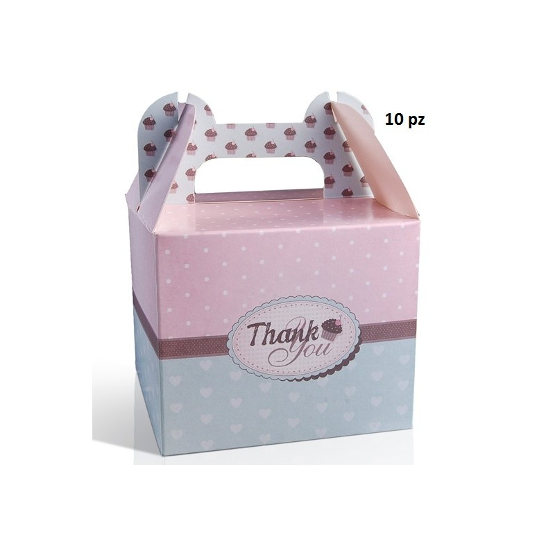 "SCATOLE BOX PORTADOLCI "" THANK YOU "" PUDCSM2 10PZ"