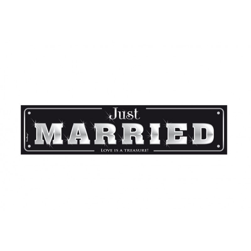 """TARGHETTE """" JUST MARRIED """" TT75P 10 PZ"""