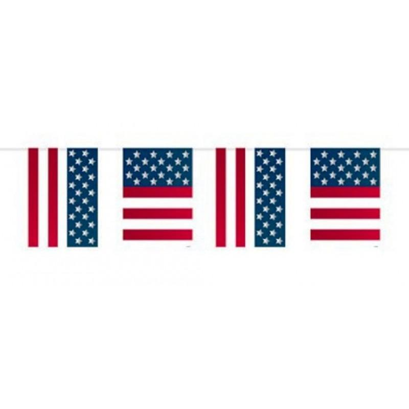 FESTONE BANDIERINE RETTANGOLARI USA BANDIERA AMERICANA 5FL29655