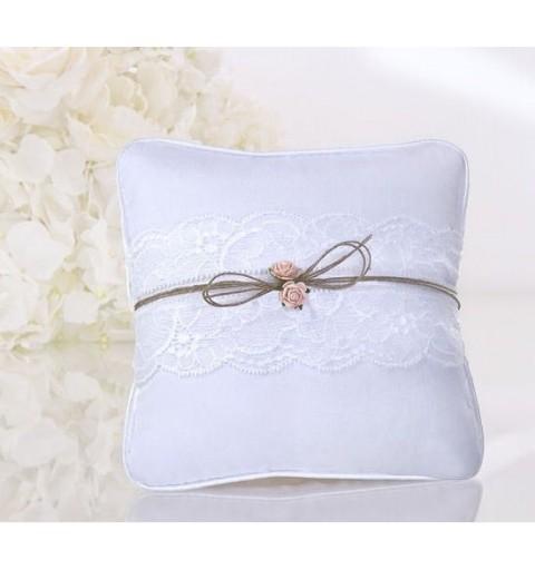 Cuscini Per Fedi Matrimonio.Portafedi Bianco Per Matrimonio