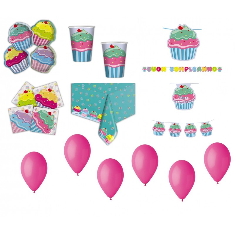 kit compleanno cupcake