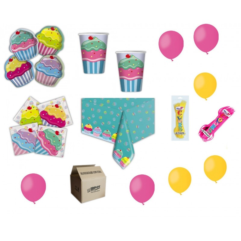 KIT COMPLEANNO CUPCAKE FESTA BAMBINA