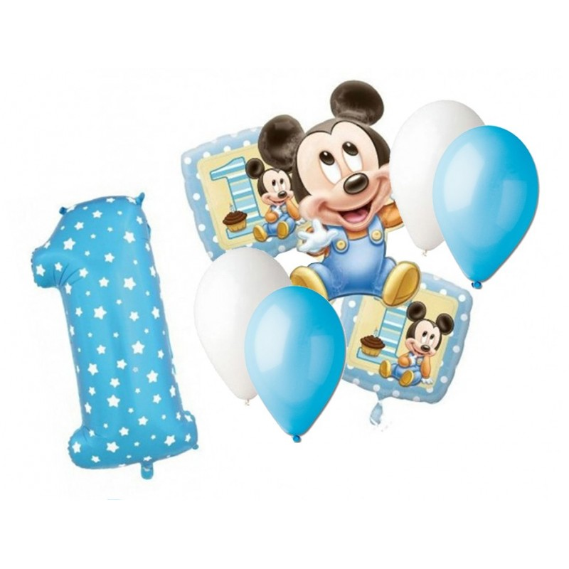 BOUQUET PALLONCINI TOPOLINO BABY N 4
