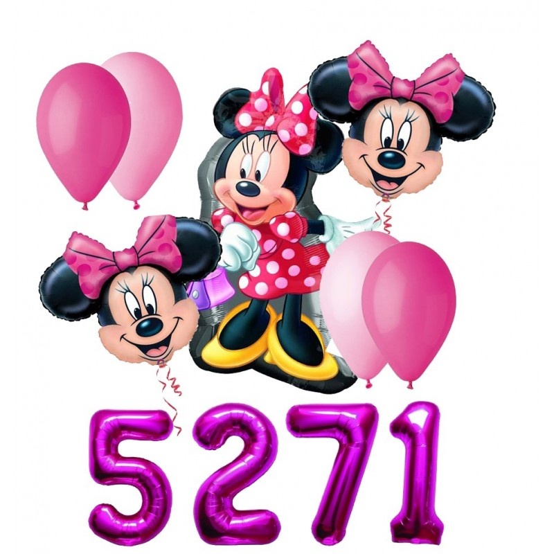 BOUQUET PALLONCINI MINNIE N 4