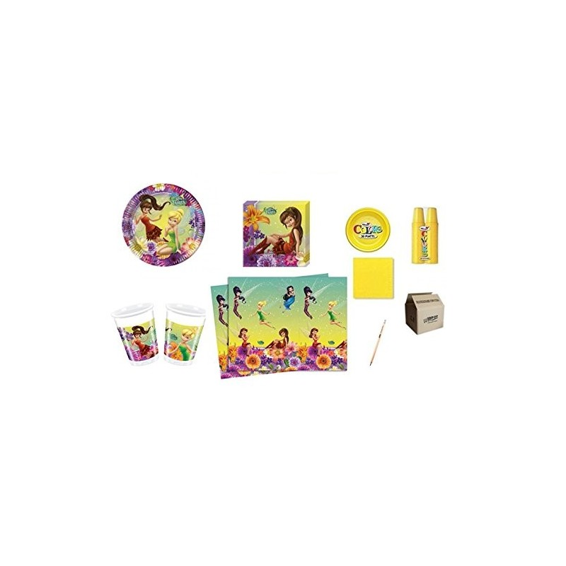 KIT 7 - 217 PZ. FAIRIES TRILLY + MONOCOLORE GIALLO
