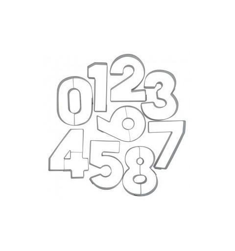 TAGLIAPASTA NUMERI IN METALLO 702233 5 cm