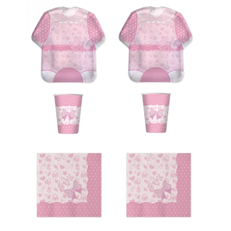 COORDINATO NASCITA BABY GIRL NEW ROSA KIT N2