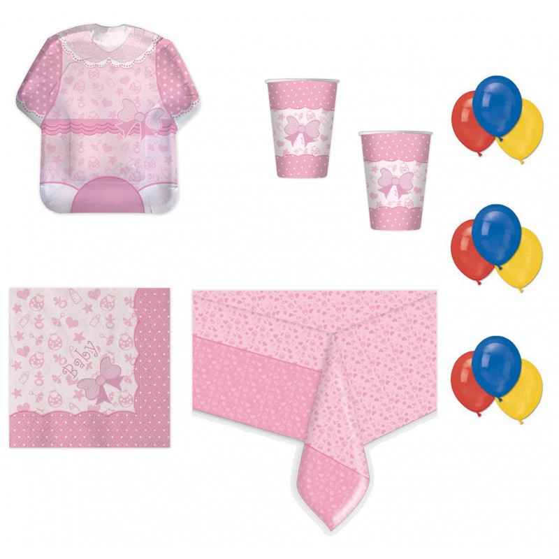 BABY GIRL NEW ROSA COORDINATO NASCITA KIT N 4