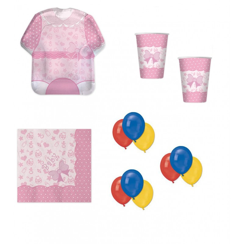 COORDINATO NASCITA BABY GIRL NEW ROSA KIT N 22