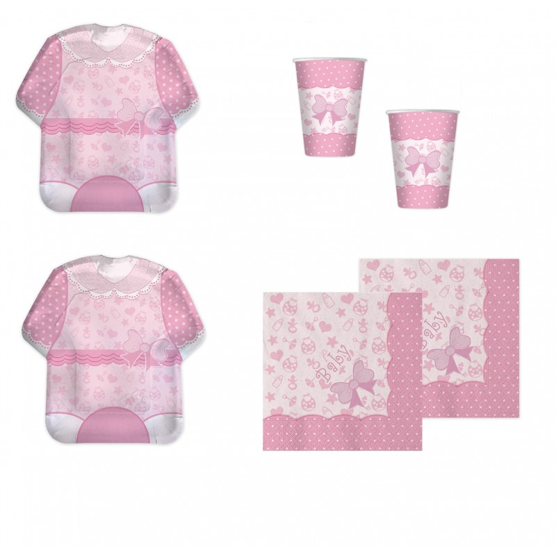 BABY GIRL NEW ROSA COORDINATO NASCITA KIT N29