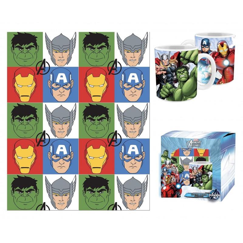tazza + coperta pile avengers
