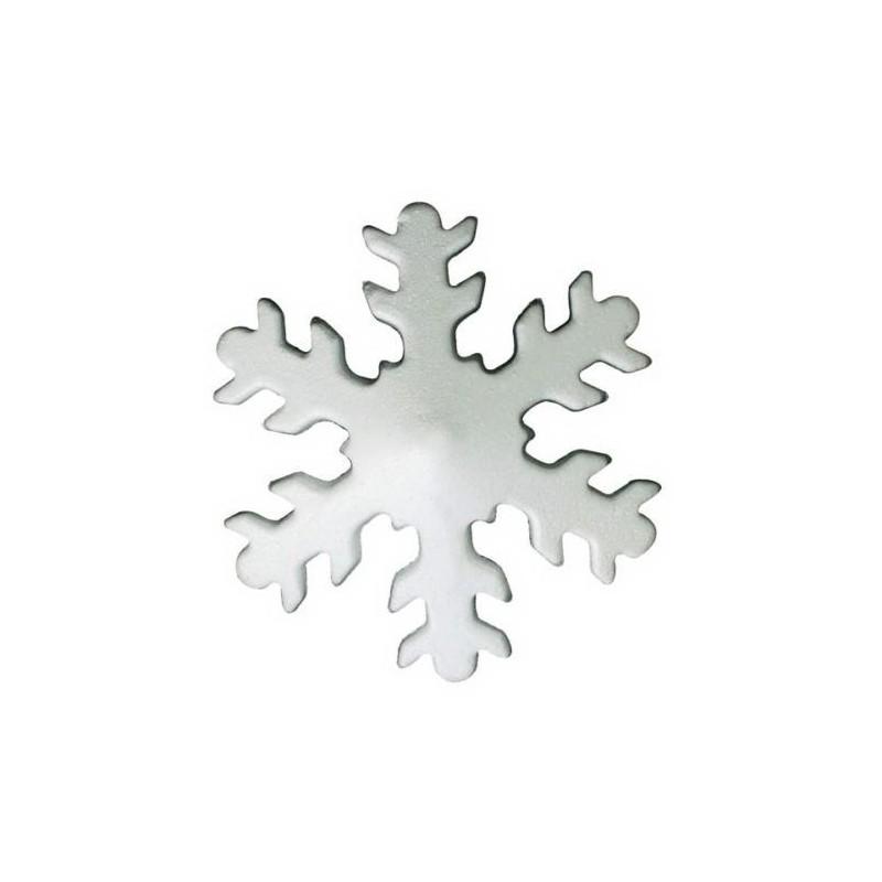decorazioni fiocco di neve in polistirolo glitterato 20pz