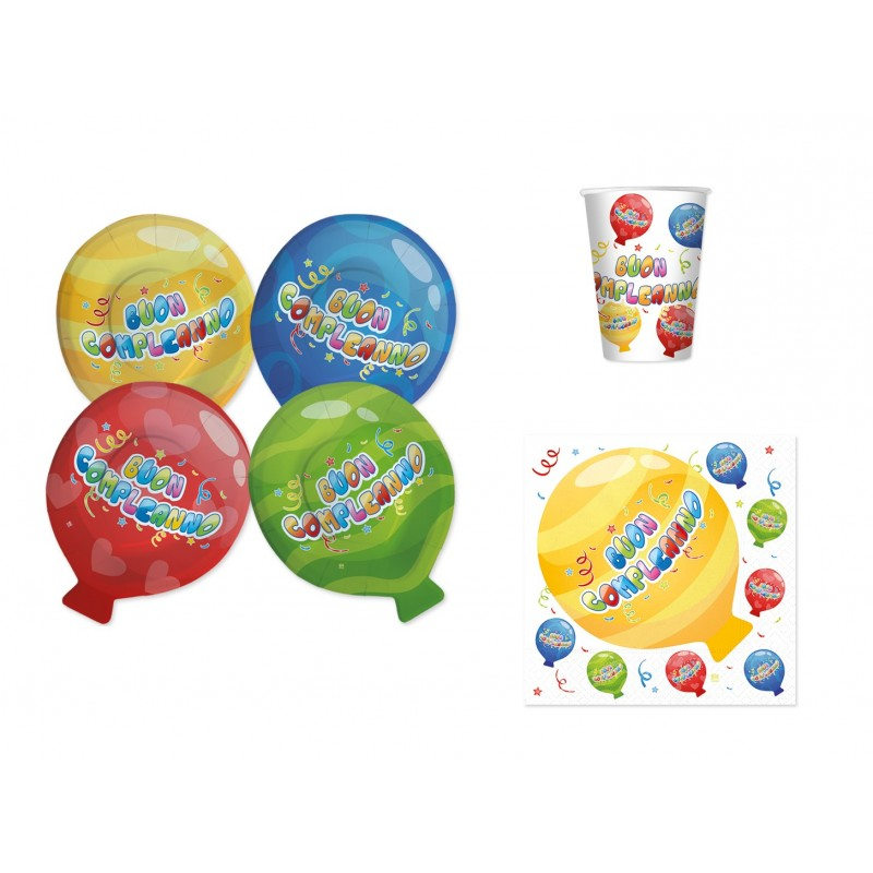 BUON COMPLEANNO PALLONCINI BALLOON KIT N 2