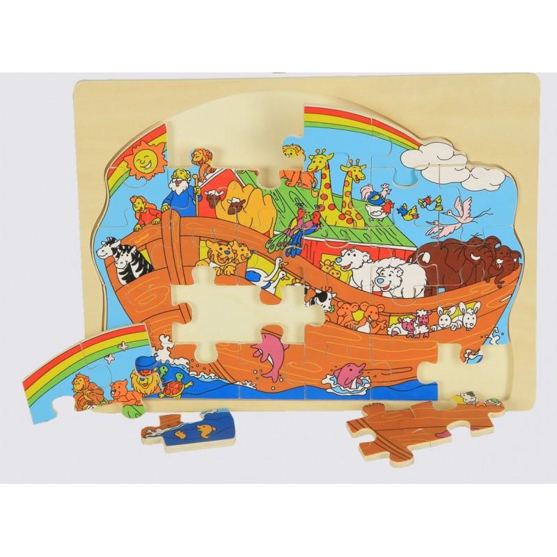 PUZZLE ARCA DI NOE' IN LEGNO GIOCO D'APPRENDIMENTO 4630