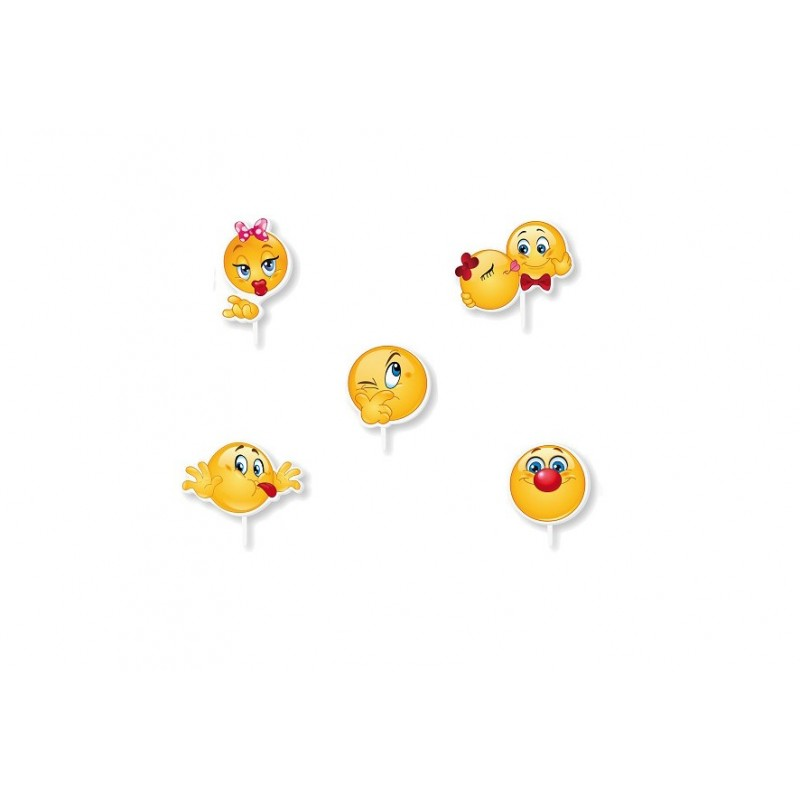 CANDELINE SAGOMATE EMOTICON SMILE 1639