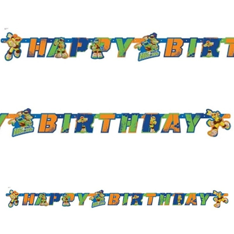 GHIRLANDA HAPPY BIRTHDAY BABY TARTARUGHE NINJA HALF SHELL HEROES 9901319