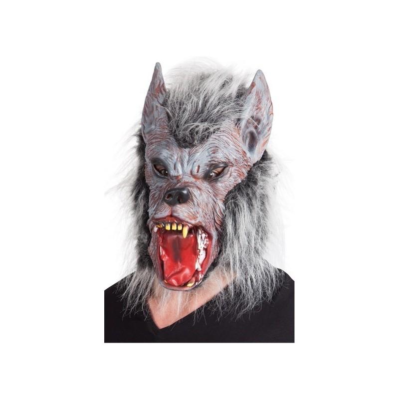 maschera lupo con peli