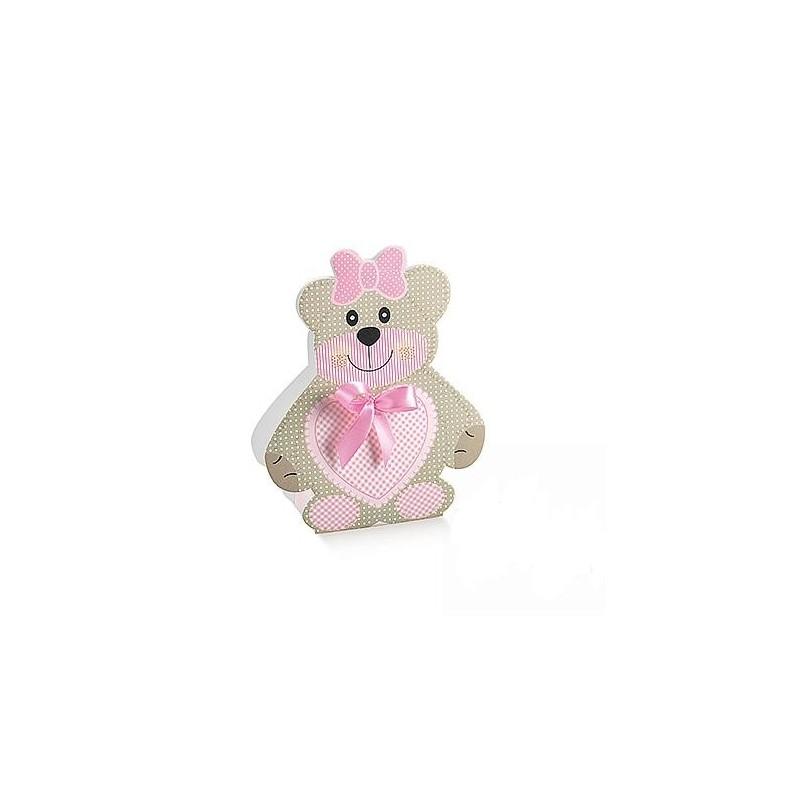 scatolina orsetta rosa