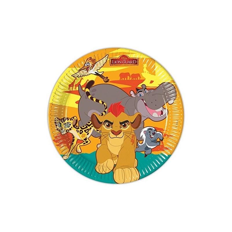 PIATTI IL RE LEONE - THE LION GUARD 8 PZ