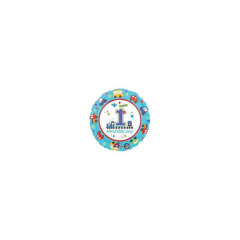 PALLONCINO FOIL 1 ANNO BIRTHDAY BOY PRIMO COMPLEANNO