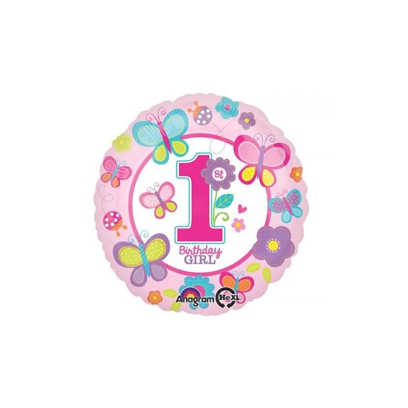 PALLONCINO FOIL 1 ANNO BIRTHDAY GIRL PRIMO COMPLEANNO