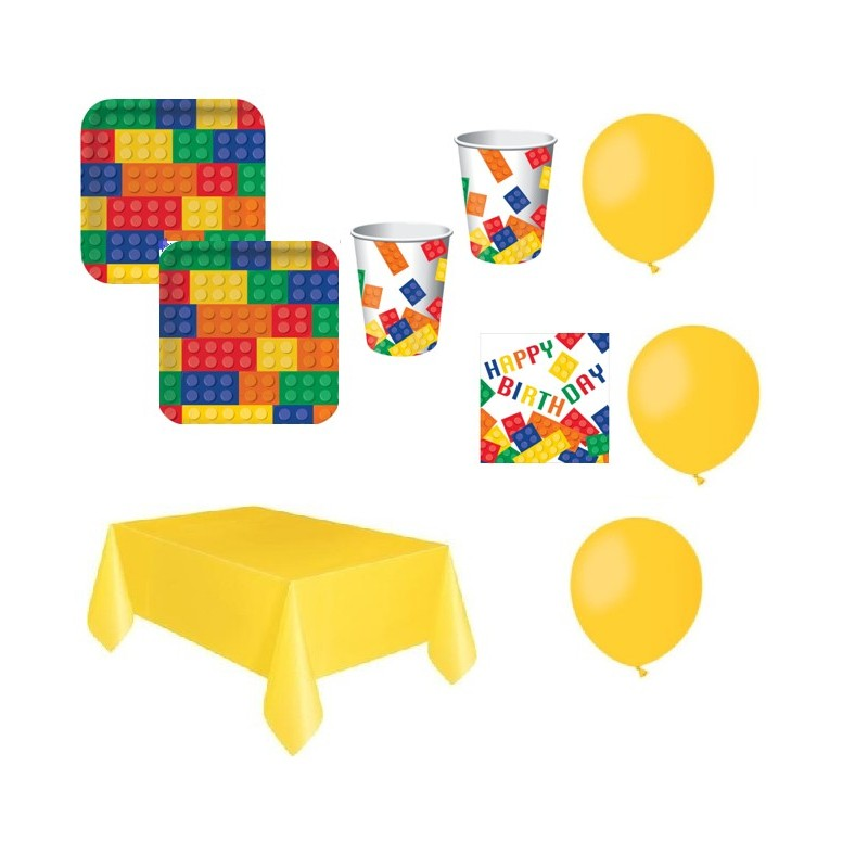 kit compleanno lego block party