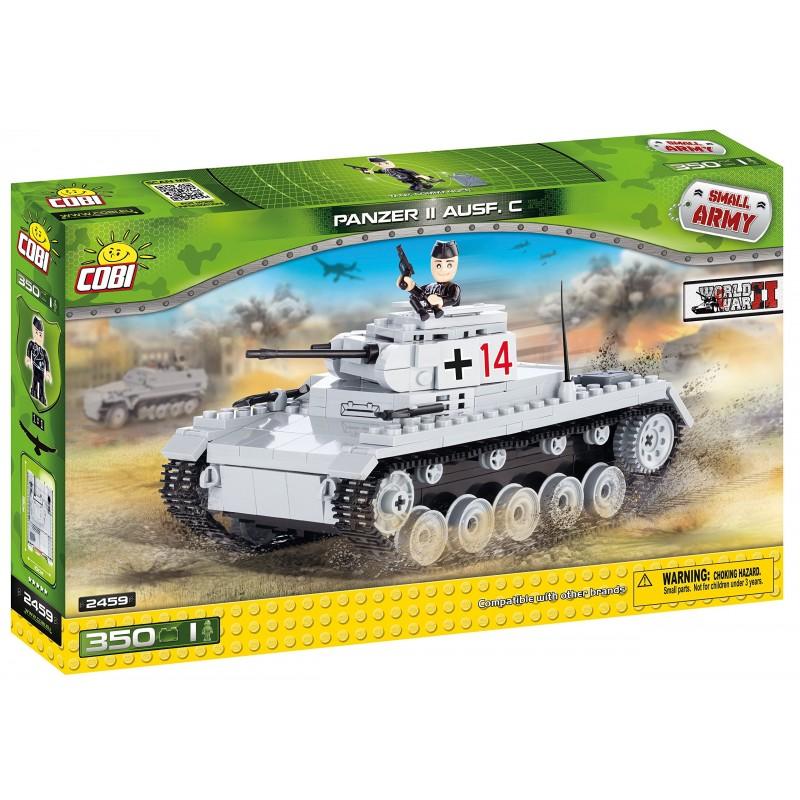 COSTRUZIONI CARRO ARMATO PANZER II AUSF C. GRIGIO SMALL ARMY 2459 COBI