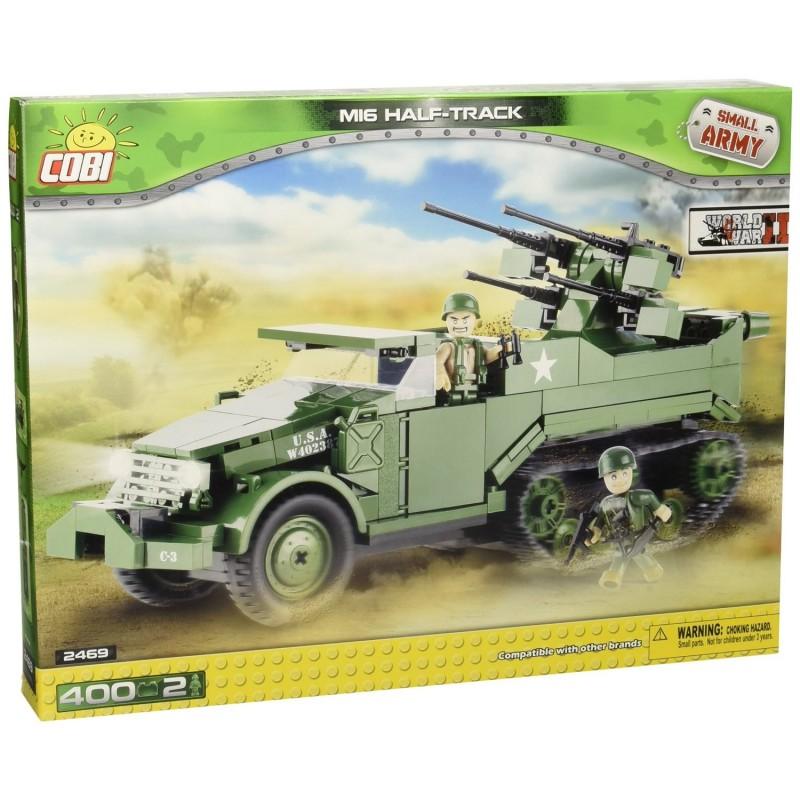 COSTRUZIONI BLINDATO TRASPORTO TRUPPE M16 HALF-TRACK VERDE 400PZ 2469 COBI