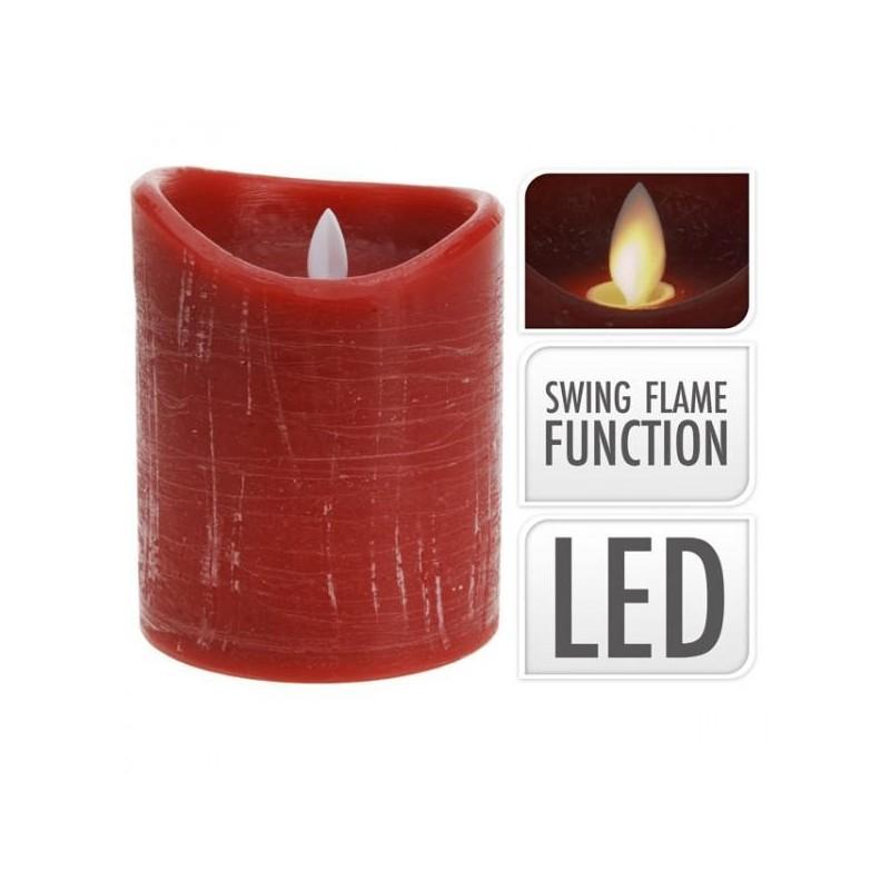 candela led rossa fiamma realistica