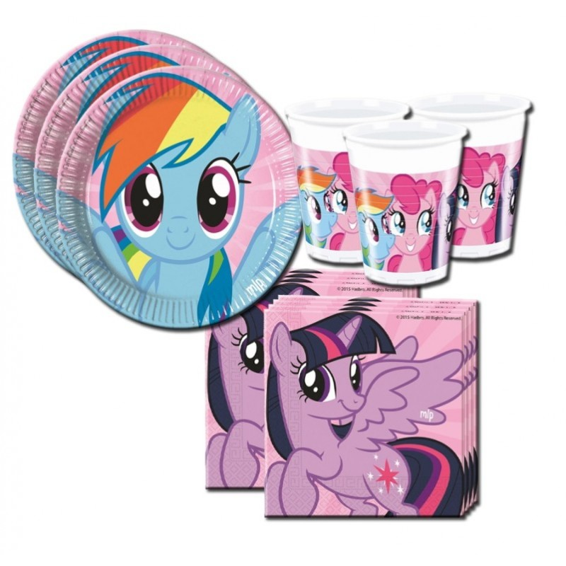 COORDINATO COMPLEANNO MY LITTLE PONY RAINBOW KIT N 2