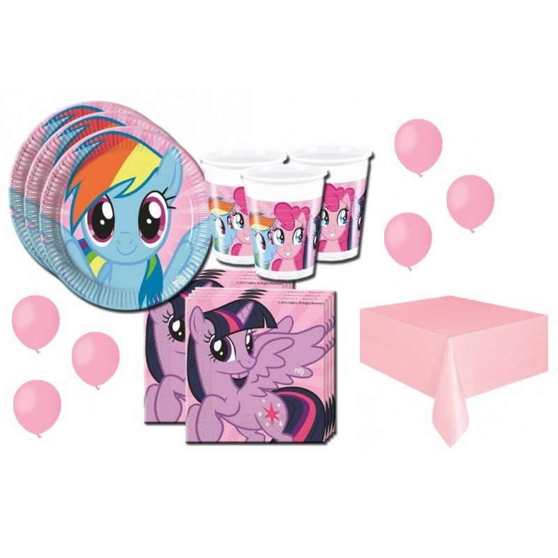 KIT 21 - 134 PZ. MY LITTLE PONY + TOVAGLIA E PALLONCINI