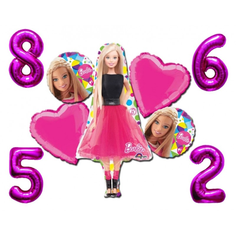 BOUQUET PALLONCINI FOIL BARBIE KIT N 3