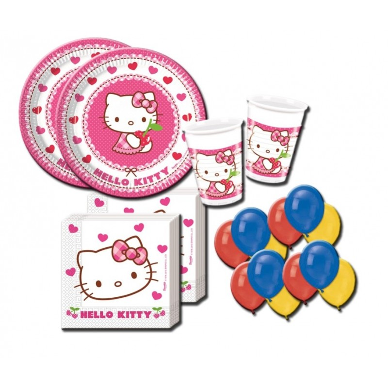 ADDOBBI COMPLEANNO HELLO KITTY HEARTS KIT N 22