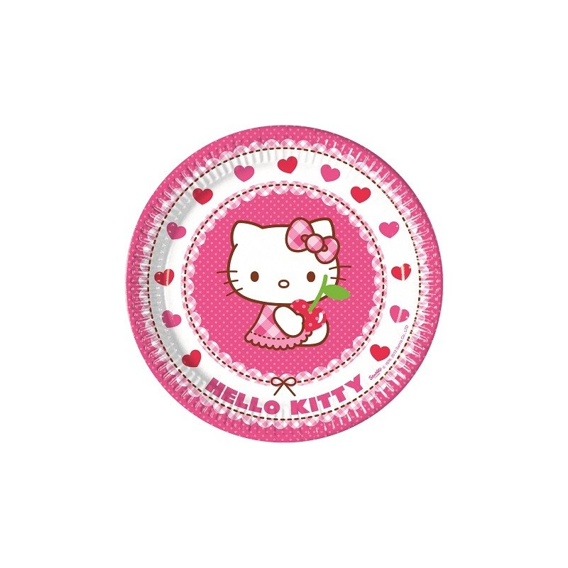 PIATTI HELLO KITTY HEARTS 8 PZ
