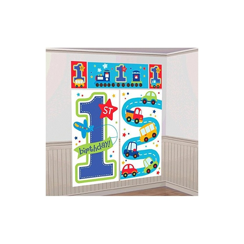 FONDALE DECORAZIONE MURALE 1 ANNO BIRTHDAY BOY 670371