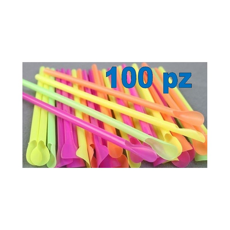SET 100 PZ CANNUCCE COLORATE CON PALETTA