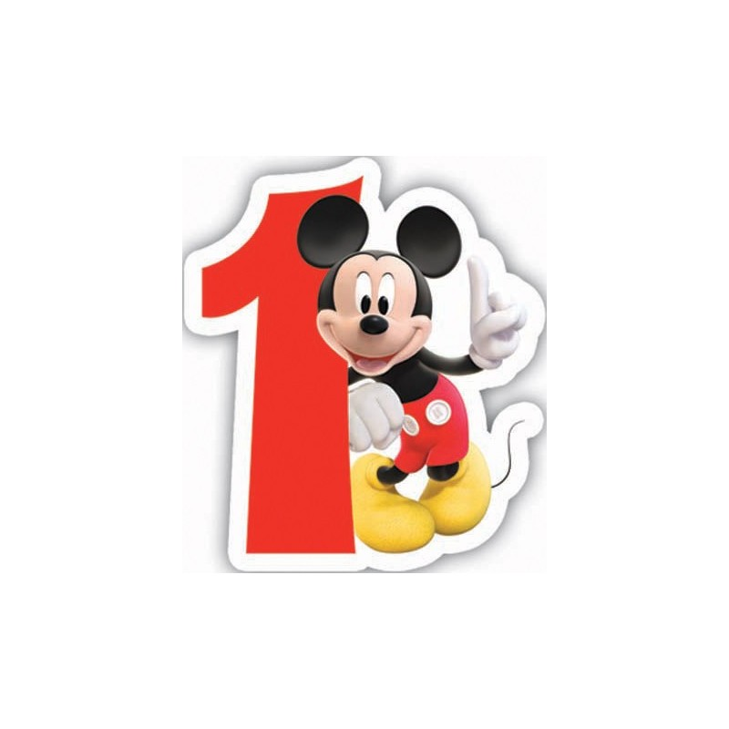 CANDELINA NUMERALE COMPLEANNO TOPOLINO MICKEY MOUSE N 1 (83149)