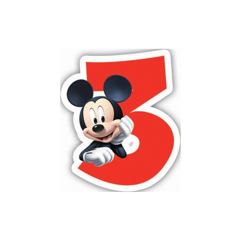 CANDELINA NUMERALE COMPLEANNO TOPOLINO N3 MICKEY MOUSE (83151)