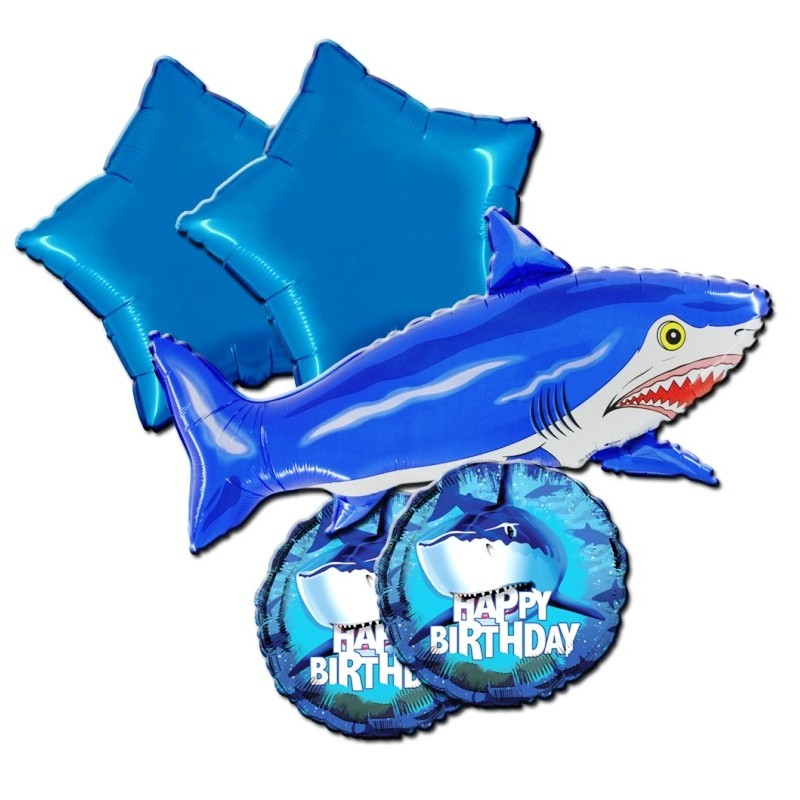 BOUQUET PALLONCINI FOIL N 2 SQUALI SHARK SPLASH