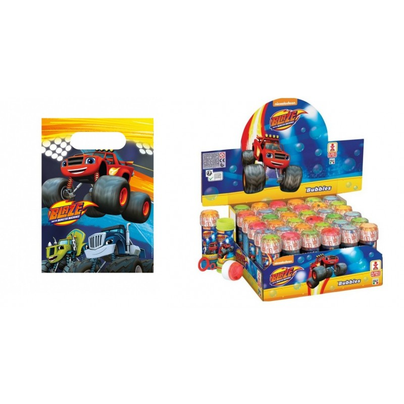 SET REGALINI COMPLEANNO PLANES DISNEY 12 BUSTINE + 36 BOLLE SAPONE